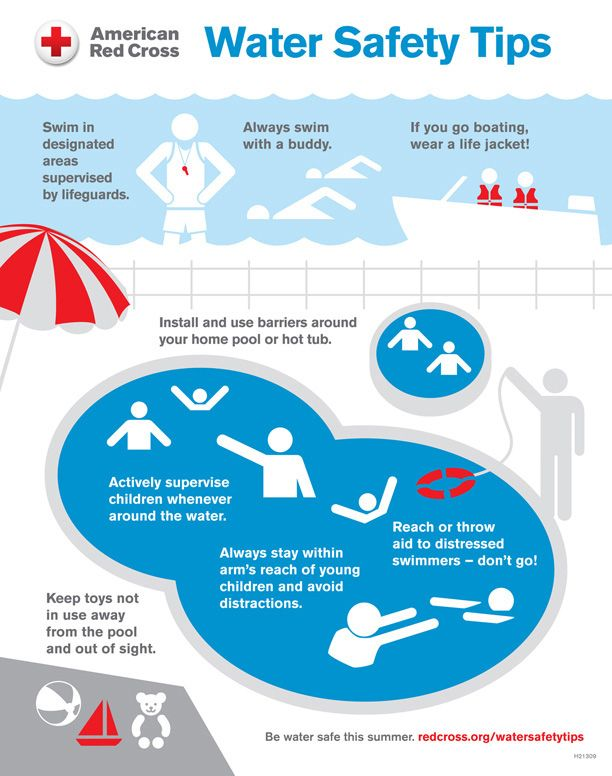 Just in time for summer! American Red Cross Water Safety Tips. Stay safe and don't forget your sunblock!