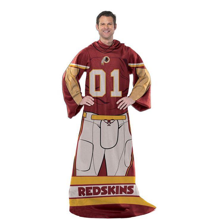 Washington Redskins NFL Uniform Comfy Throw Blanket w/ Sleeves