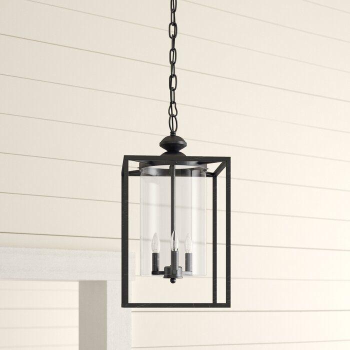 Chesson 3 Light Lantern SquareRectangle Pendant & Reviews