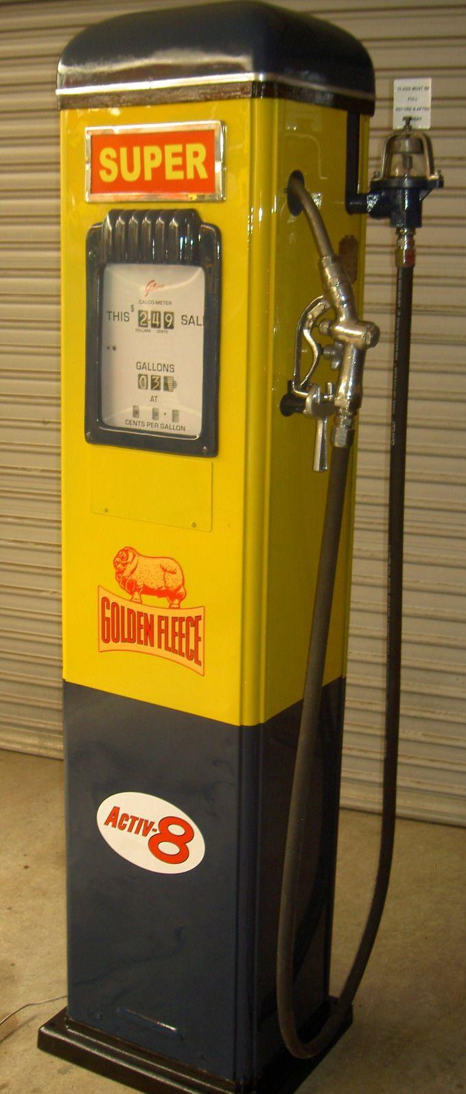 Golden Fleece service station fuel pump