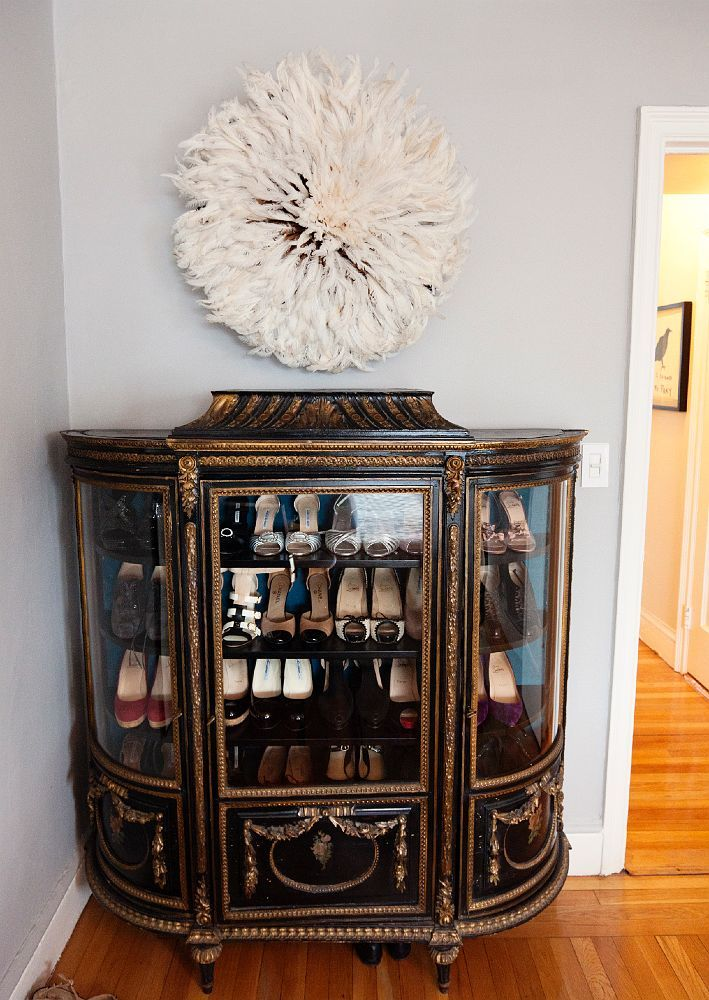 Shoe storage as decor