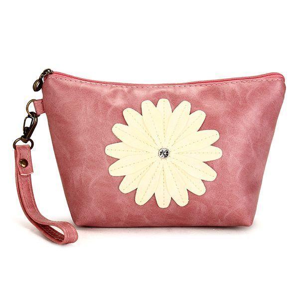 Women Sunflower Coin Purse Clutch Bag Cosmetic Wallets Restaurant Pa Escape