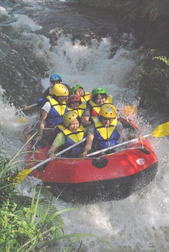 rafting at sungai palayangan Bandung-Pangalengan