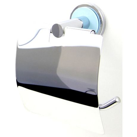 Niebieski Uchwyt na papier toaletowy z klapką A3-14617