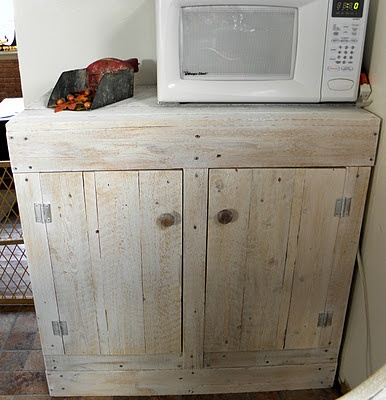 yup...except mine is going to have a sink in it and i will call it a bathroom vanity    How To Make A Rustic Pallet Cabinet