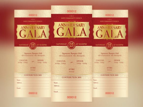Great design doesnu0027t have to be hard Check out #Anniversary #Gala - banquet ticket template