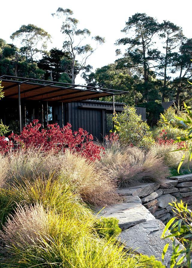 A Mornington Peninsula Garden With A Picture Perfect Lake Australian Garden Design Australian Garden Garden Landscape Design