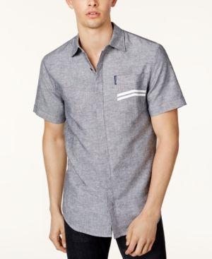 Armani Exchange Men's Chevron Pocket Shirt - Blue XXL