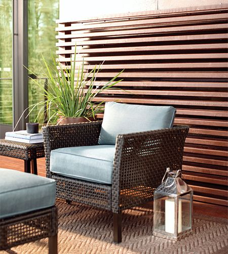 A privacy screen is a great idea for adding privacy to a townhouse garden, screening off a patio area, blocking off the view from close neig...