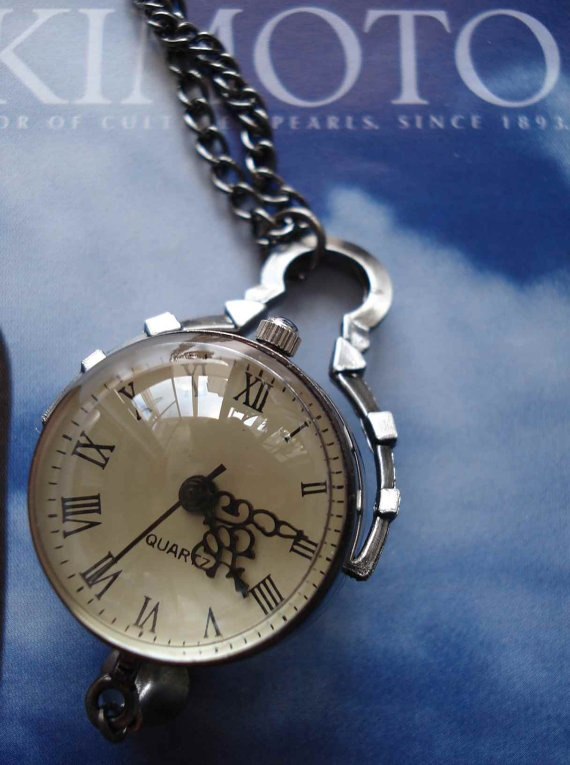 Silver color ball necklace pocket watch pendant by Azuraccessories, $8.49