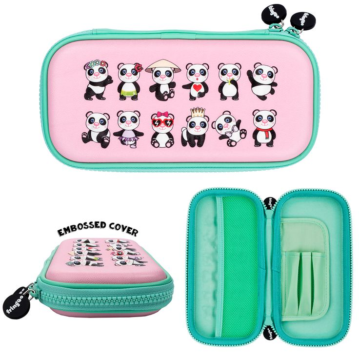 Kids pencil case. Compact design, embossed shell stationery organiser. Amazing back to school gift for girls.