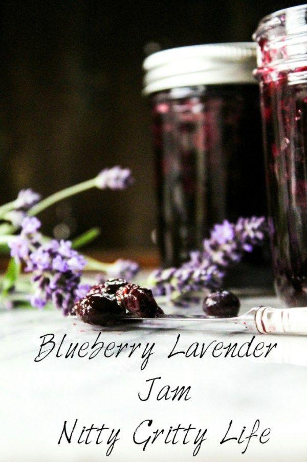 Fruit & Flowers: Blueberry Lavender Jam - NittyGrittyLife