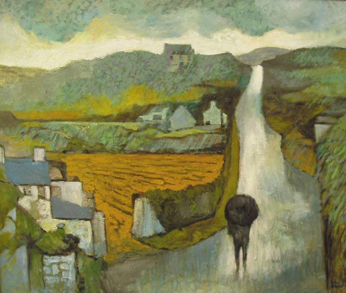 An April Squall  John Elwyn  Oil on canvas c.1991  64 x 78 cm
