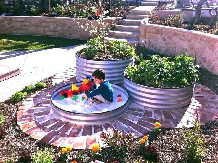 water trough gardens galvanized raised bed for gardening