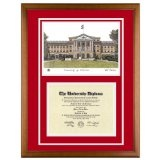 University of Wisconsin (Madison) Diploma Frame with UW Lithograph Art PrintBy Old School Diploma Frame Co.