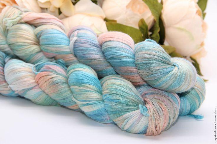 Купить Пряжа ручной окраски 70% кашемир, 30% шелк - комбинированный, пряжа для вязания