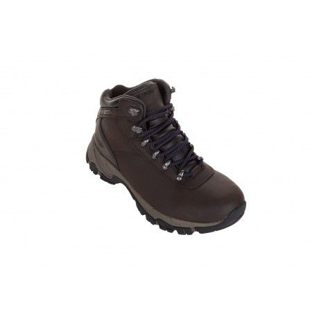 The Hi-Tec Altitude 5 is a no-nonsense boot for women that need the highest level of protection for their feet and ankles on their outdoor adventures. It has a double level layer of water resistance, with a waterproof bootie construction and a waterproof, full grain leather upper that has an i-Shield hydrophobic layer to repel water.