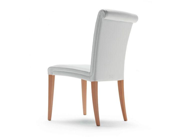 Pelle Frau® chair VITTORIA by Poltrona Frau