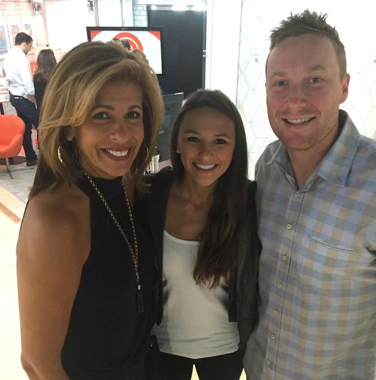 Today show host Hoda Kotb with Angie and Cody Asche