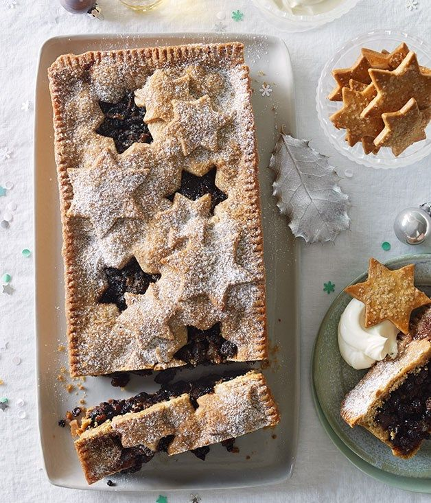 Sour cherry and chocolate fruit mince tart