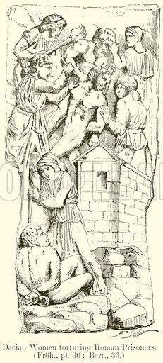 Femei dace torturează prizonierii romani.