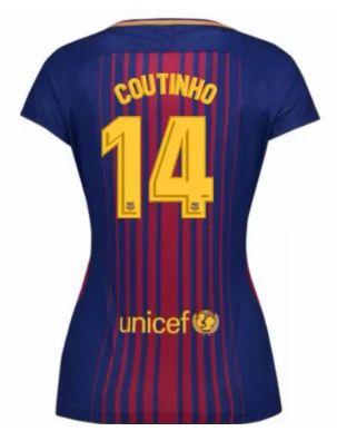 Barcelona Jersey 2017/18 Home Soccer Shirt #14 COUTINHO