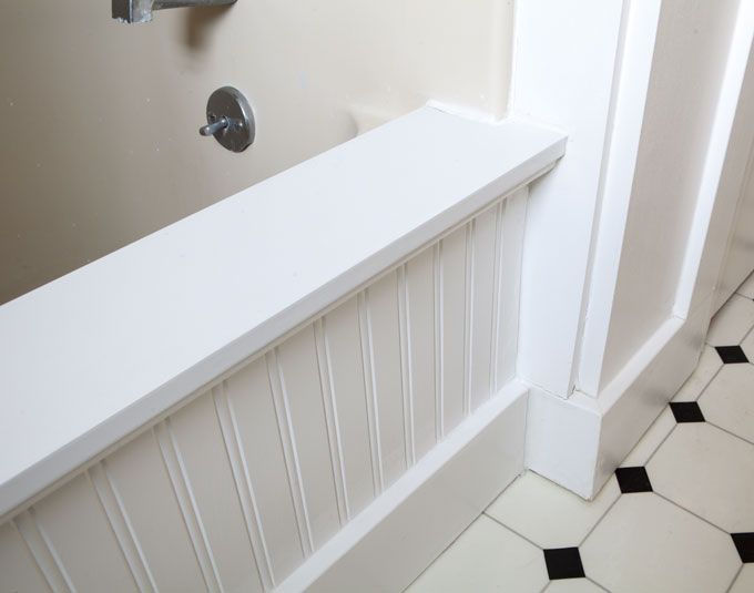 Bathroom Makeover How To Add Decorative Molding A Bathtub