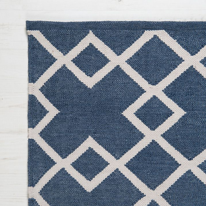 Weaver Green Juno Collection Washable Outdoor Rug, Navy
