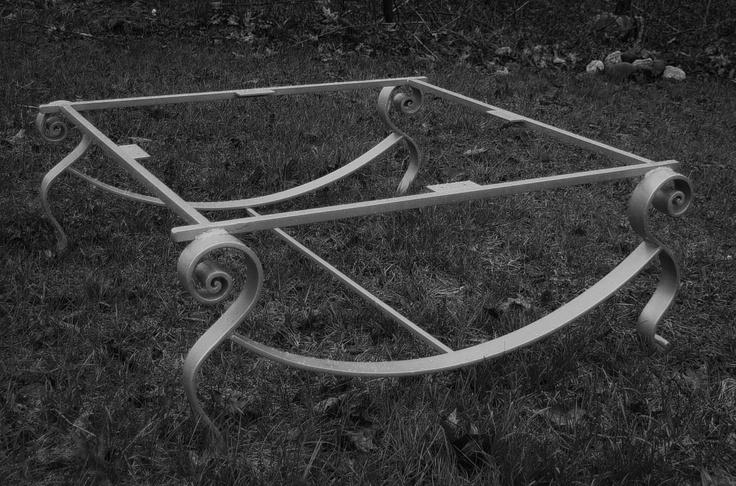 Bjorn table legs/frame painted (black & white )