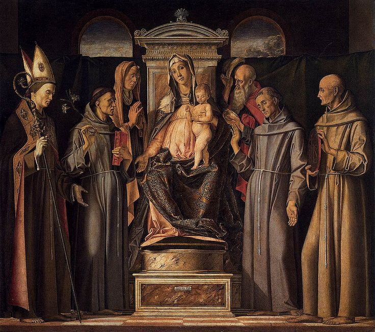 VIVARINI Alvise (Venezia, tra il 1442 e il 1453 – Venezia, tra il 1503 e il 1505) - Virgin and Child Enthroned with Saints (Sacra Conversazione) #TuscanyAgriturismoGiratola