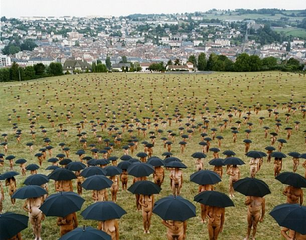 Spencer Tunick- Aurillac 1 (France) 2010 I want to do this someday.