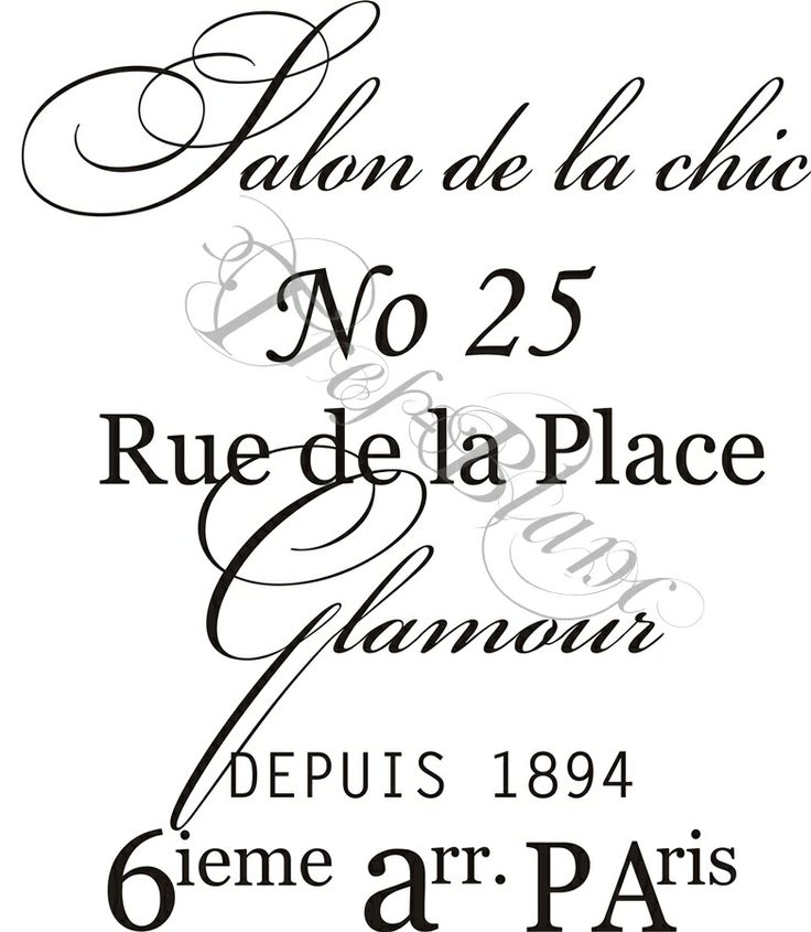 Pin on French Stencil