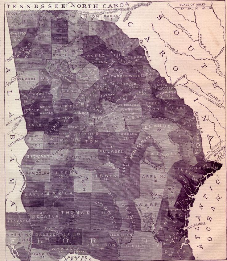 Map Of Poitiers%0A This Slave Map from Georgia in      is quite helpful in that it shows the  county