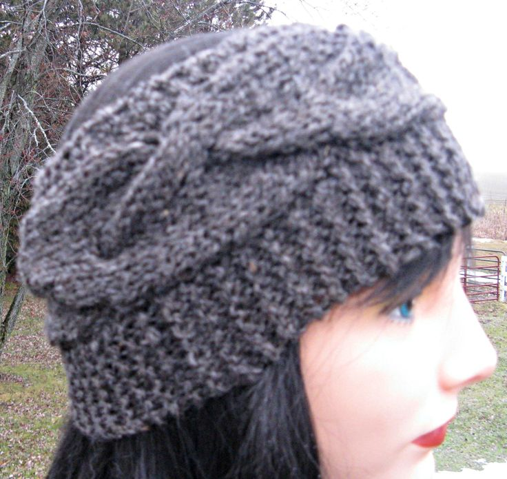 14 best Knit Headbands and PonyTail hats - finished and patterns ...