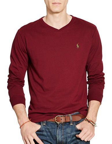 Polo Ralph Lauren Long Sleeve T-Shirt Men's Wine Large