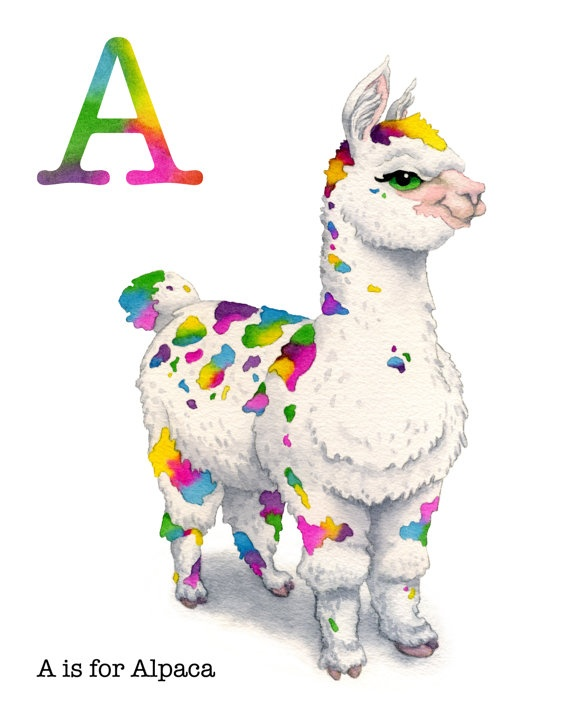 A is for Alpaca. $18 #sweet