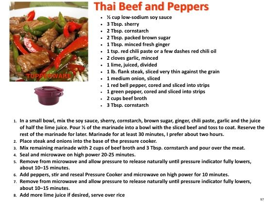 Thai Beef and Peppers