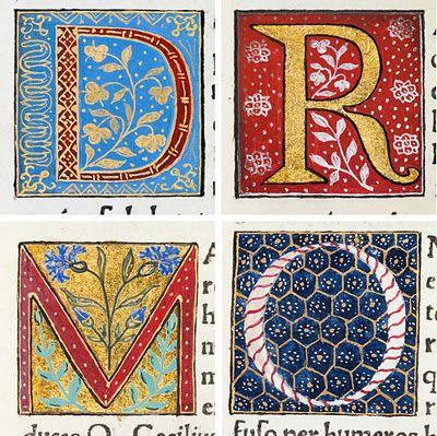 illuminated letters