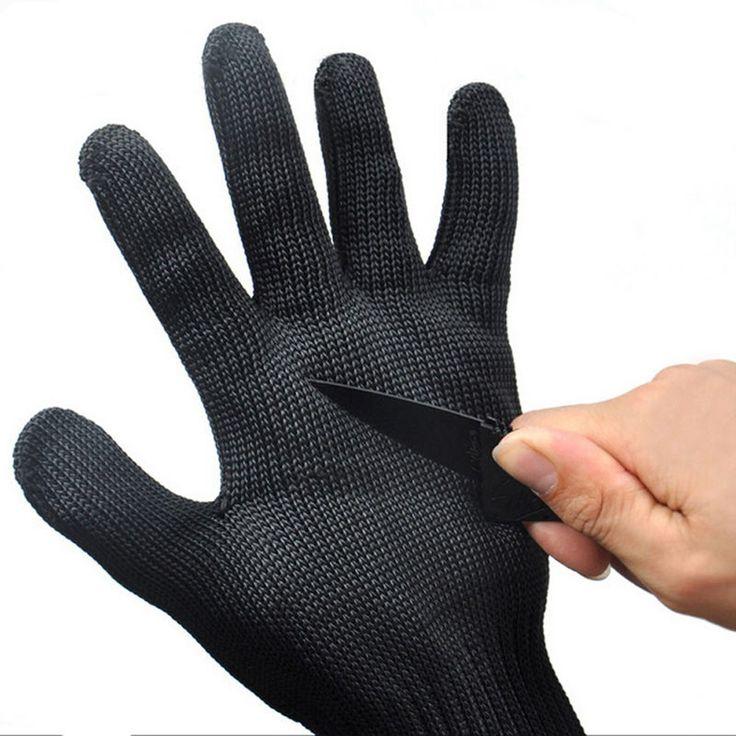1 par luvas de kevlar corte luvas de segurança de proteção à prova de fio de aço inoxidável Metal Mesh Butcher Anti corte luvas de trabalho respirável