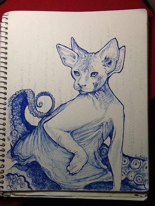 """Sphyntopus""  Sharpie pen  2013"