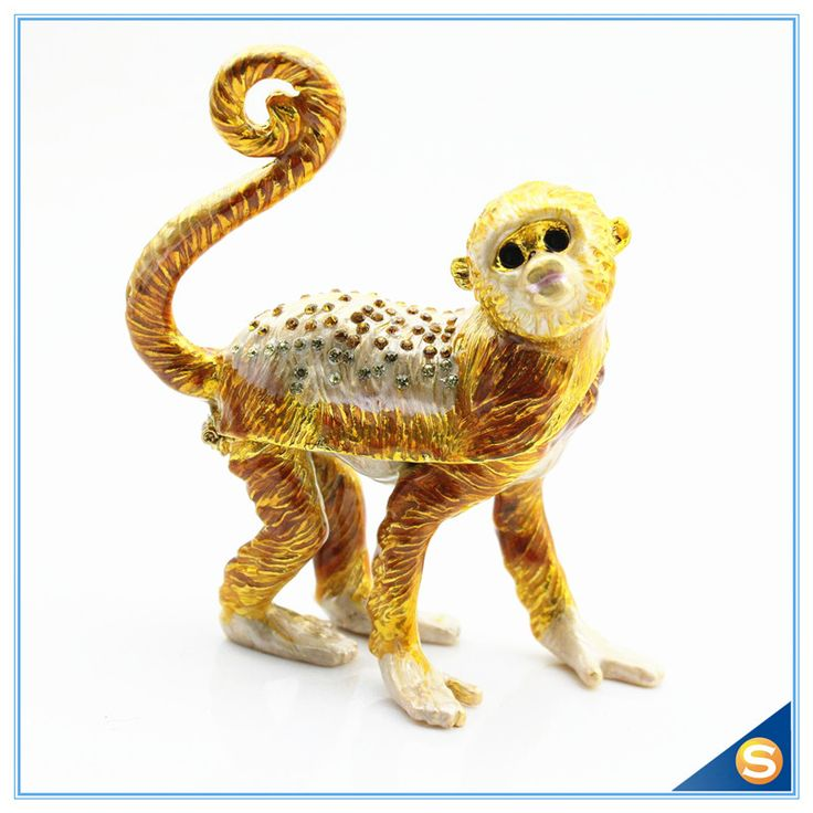 Find More Storage Boxes & Bins Information about Factory Direct Sale Enamel Craft Monkey Shape Crystal Jewelry Box ,High Quality box box,China crystal box Suppliers, Cheap jewelry box craft from Shinny Gifts CO., Ltd on Aliexpress.com