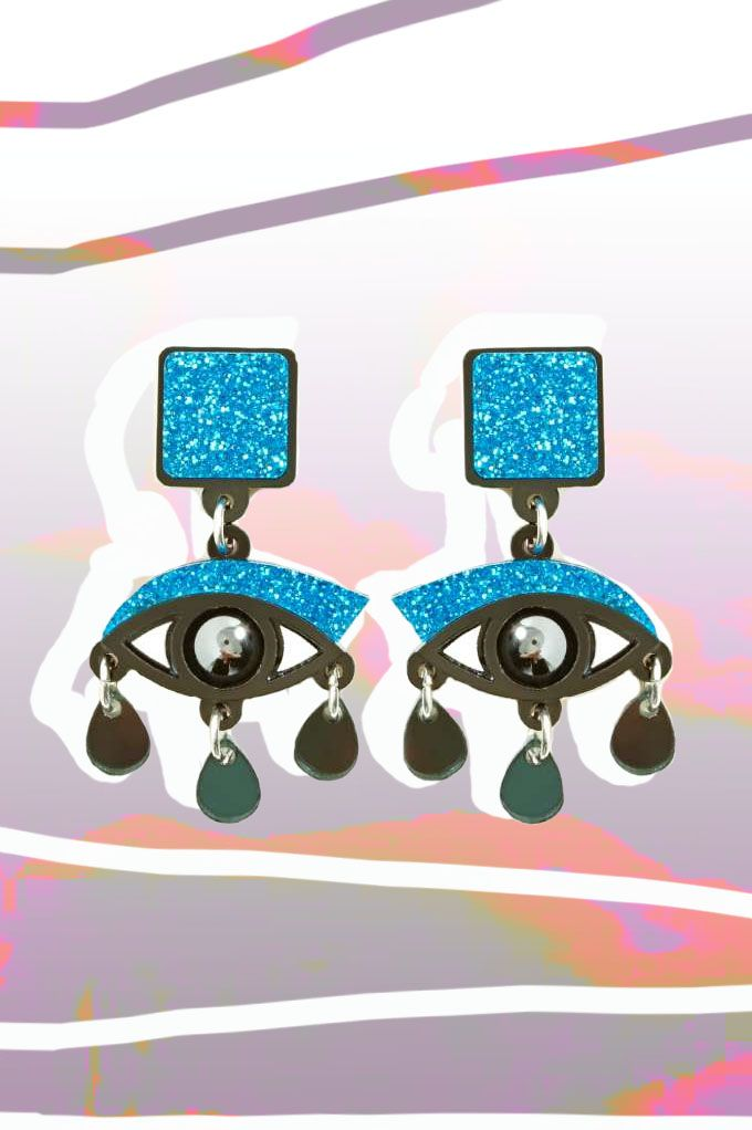 Jennifer Loiselle Eyes On You Drop Earrings available at Nasty Gal.