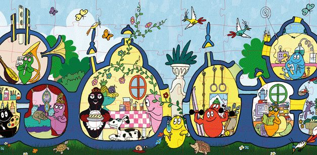 I loved the Barbapapa house.