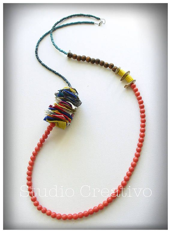 Colorful Geometry Necklace Geometry Collection