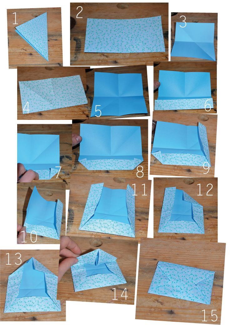 Comment faire une enveloppe tuto origami do it yourself mariage pinterest - Comment faire origami ...