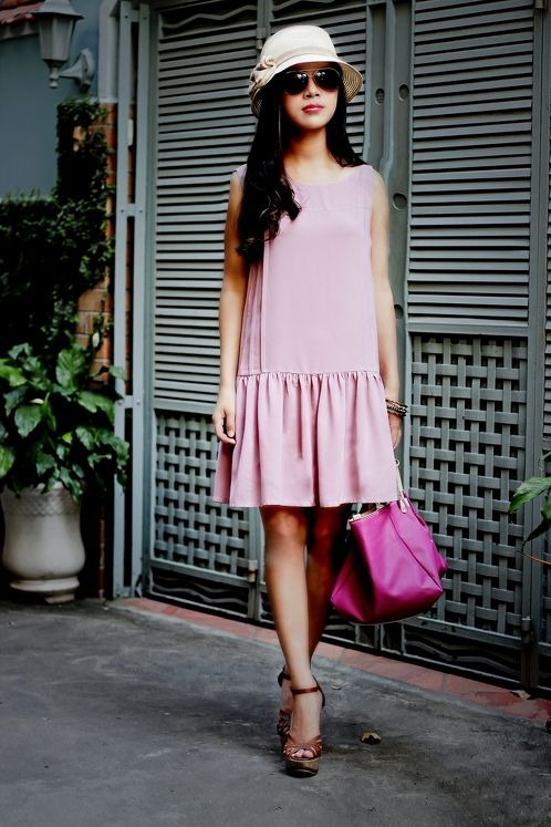 https://www.cityblis.com/item/10355   Summer dress  004A - $80 by Meera Meera Fashion Concept   Summer pleated dress   Code: 004A  Color: Rose of Ash   Material: Laico    Size: M
