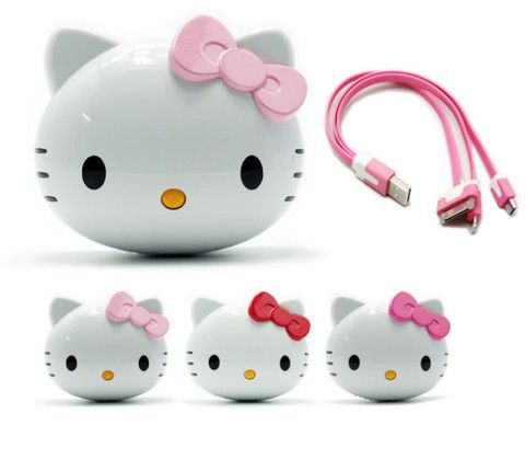Power Bank : Hello Kitty 8000mAh external battery for all type Smart Phone