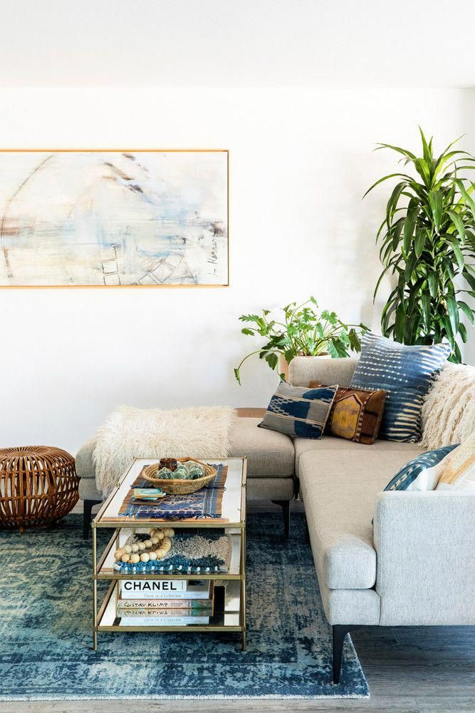 This Lush Indigo Boho Living Room Design By Abbie Naber Gets Recreated For Less Copycatchic Luxe Budget Home Decor And