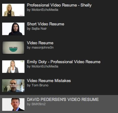 Image Of Sample Of Video Resume Script