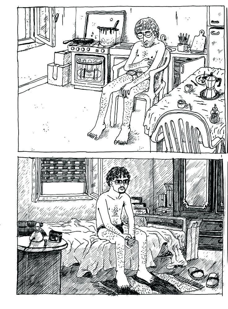 """Tavola tratta da """"Fratelli"""" di Alessandro Tota. Pubblicato da Coconino press (2011)"""
